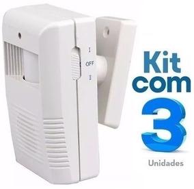 Sensor De Presença Sonoro Sem Fio Ds / Kit Com 03 Unidades
