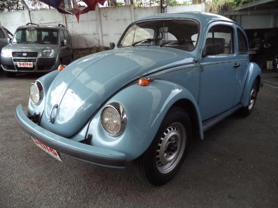 Fusca 1600 Álcool 1993 /94 Azul Ótimo Estado Conservação Vej