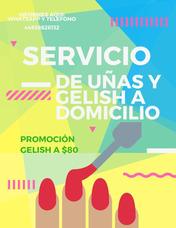 Servicio De Uñas Postizas Y Gelish A Domicilio