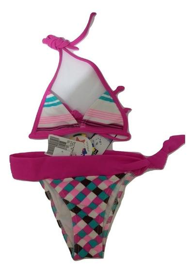 Biquini Menina, Cor Pink, Tip Top, Tamanho 6, Moda Praia
