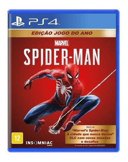 Jogo Midia Fisica Spider Man Homem Aranha Jogo Do Ano Ps4