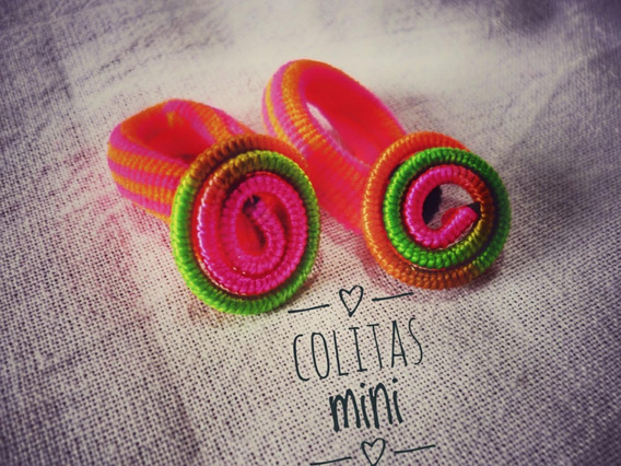 Colitas Mini Para El Cabello, Colores Varios -pack X 2 Unid-