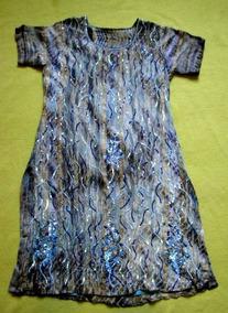 Hermoso Vestido Indú Aplicaciones Lentejuelas Y Mostacillas