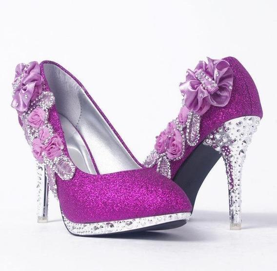 Sapato Feminino Aoyini 12669-1 Importado Frete Grátis