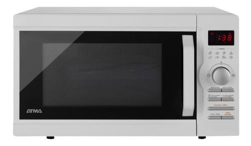 Microondas Grill Atma Easy Cook Md1728gn  Blanco 28l 220v
