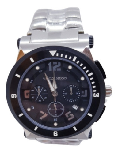 Relógio Masculino Prateado Victor Hugo  Vh10064