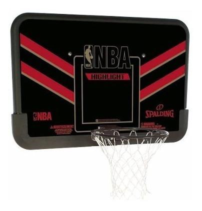 Tablero De Basket Con Aro Nba 44 - Negro/rojo Spalding