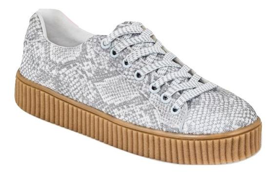 Sneaker Urbano Cklass Gris Flat Dtt04887 Textil Dama