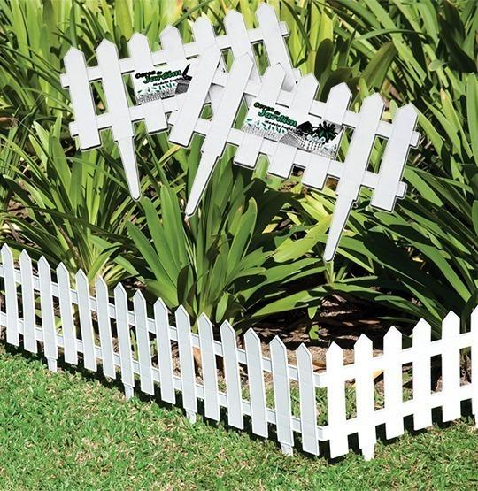 Kit 9 Cercas Plastica Decorativa Jardim Inglês 3,64m Aproxi