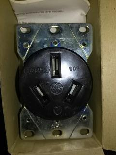 Toma Corriente 50amp 220v General Electric Empotrar