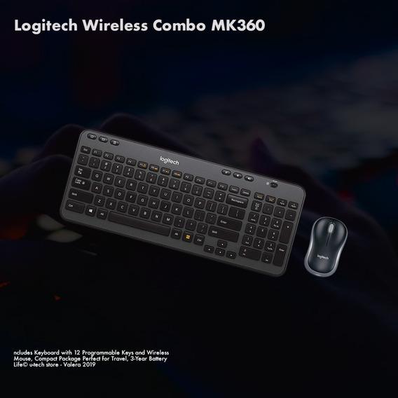 Mouse Y Teclado Inhalambrico Logitech Nueva Generación (40v)