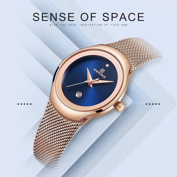 Relógio Pulso Naviforce Nf5004 Feminino Luxo