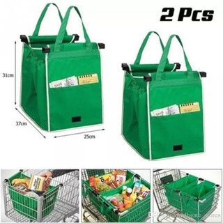 2 Bolsa Ecologica Reciclable Carrito Super Mercado Mandado