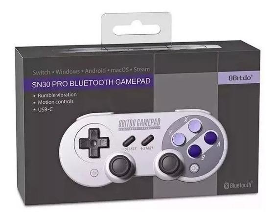 Controle 8bitdo Sn30 Pro Bluetooth Snes30 Original