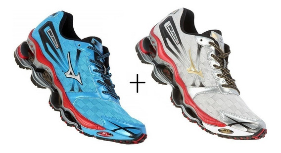 Tênis Mizuno Wave Prophecy Pro 2 Corrida Kit Com 2 Pares