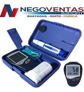 Glucometro Medidor De Glucosa Pantalla Digital + Accesorios