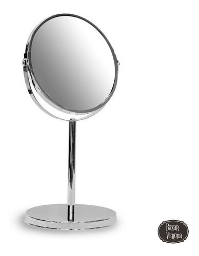 Espejo Maquillaje Barba Con Aumento De Mesa Mediano Zoom X 5