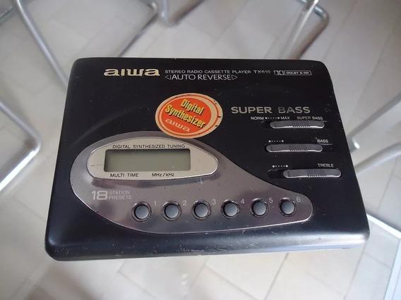 Walkman Aiwa Tx 610 Guardado Há 20 Anos ( Não Liga )