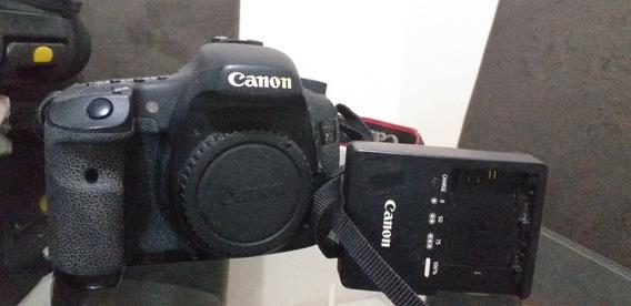 Kit Máquina 7d Canon Mais Lente E Flash