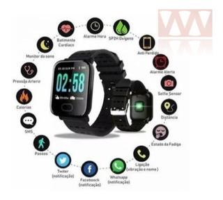 Relógio Pulseira Inteligente Smartband Mtr-23 Manual Em Port