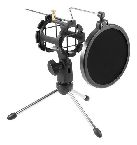 Soporte Tripode Microfono De Mesa Con Antipop Soporte Elefir