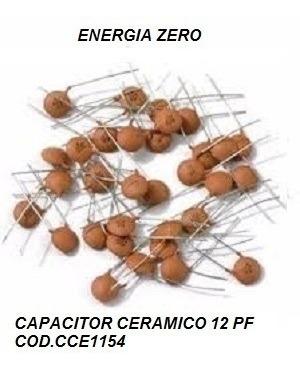 Capacitor Ceramico 12pf Pac 12 Unid Cod.cce1154 Frete Cr