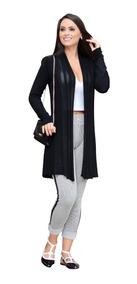 Cardigan Feminino Sueter Kimono Casaco Manga Longa Malha
