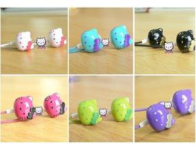 Fone De Ouvido Intra Auricular Hello Kitty Silicone Mp3 Mp4