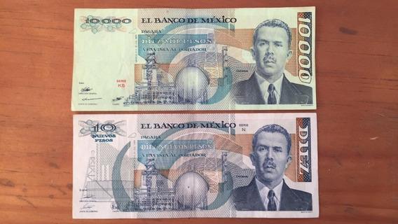 Billetes 10 000 Y 10 Nuevos Pesos (el Par)