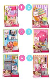 Conjunto Moveis E Acessórios Da Boneca Barbie Fdf87 Mattel