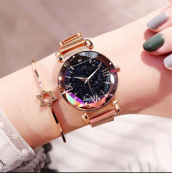 Relógio Feminino Céu Estrelado
