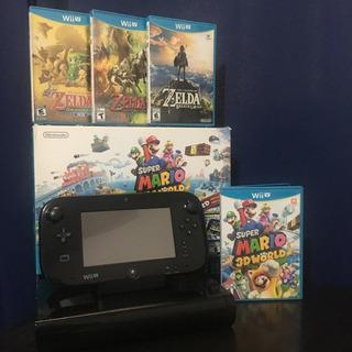 Consola Nintendo Wii U Mario 3d World Delux Set + 4 Juegos