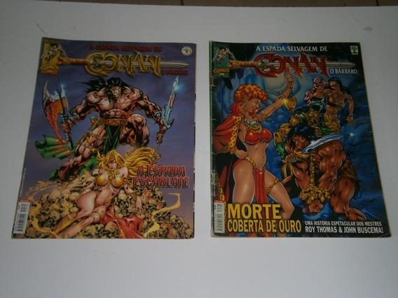 Conan - A Espada Selvagem Nºs 193 E 194 Raros E Antigos
