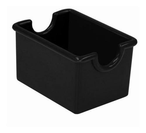 Imagen 1 de 5 de Azucarera De Plástico Para Sobre Negra Pack 12 Pzs.