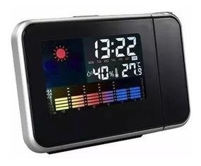 Relógio Projetor Despertador Termômetro Higrômetro Calendari