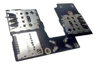 Flex Leitor Chip Slot Conector Sim Card Sd Moto G3 Original