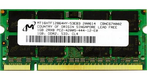Memoria Ram 1 Gb Ddr2 533 Mhz Pc2-4200s De Laptop Sodimm