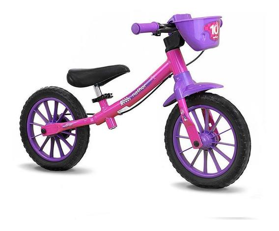 Bicicleta Infantil Nathor Balance Bike Equilíbrio Aro 12