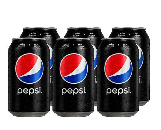 Pepsi Black Lata 354 Cc Pack X6 Unidades