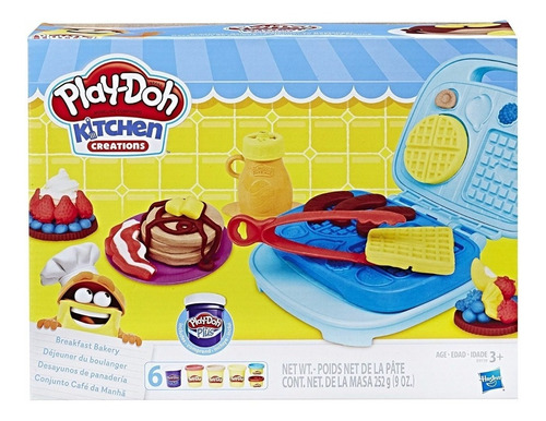 Imagen 1 de 8 de Play-doh Desayunos De Panaderia Hasbro B9739 Masa Educando