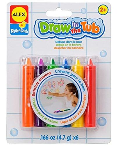 Imagen 1 de 1 de Alex Toys Rub A Dub Draw En La Bañera Crayons