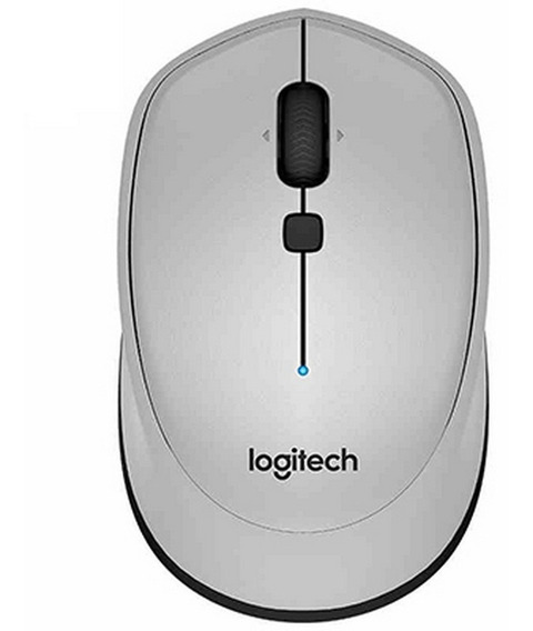 Mouse Bluetooth Sem Fio Logitech Original M336 Cinza