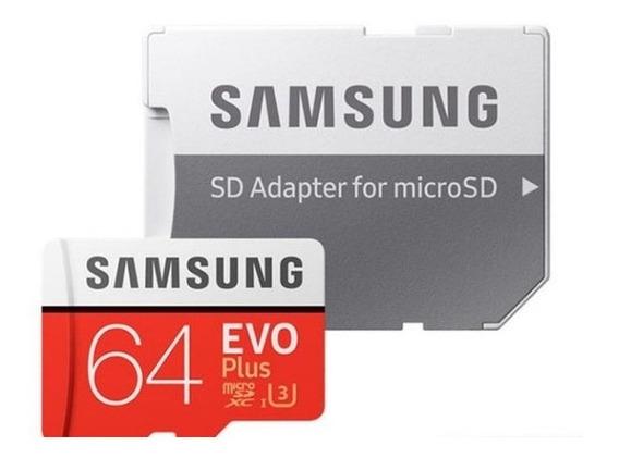 Cartão De Memória Samsung 64 Gb Evo Plus