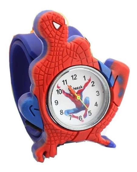 Relógio De Pulso Adolecente/infantil Homem-aranha Silicone