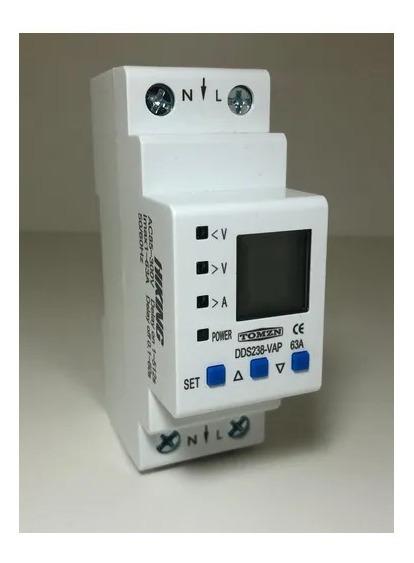 Relê Protetor Tensão/corrente Ac 63a 110v/220v C/ Wattímetro