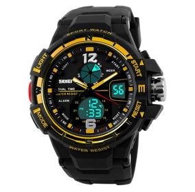 Relógio Digital Aprova Dagua Masculino Esportivo Cronômetro