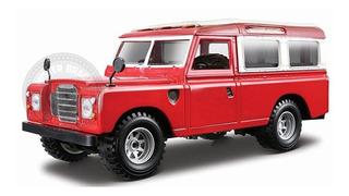 Miniatura Land Rover Vermelha Burago 1/24