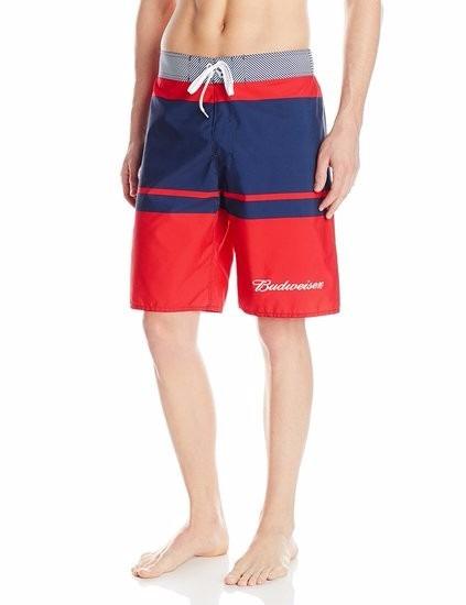 Excelente Budweiser Boardshort 32 34 38 Navy Red