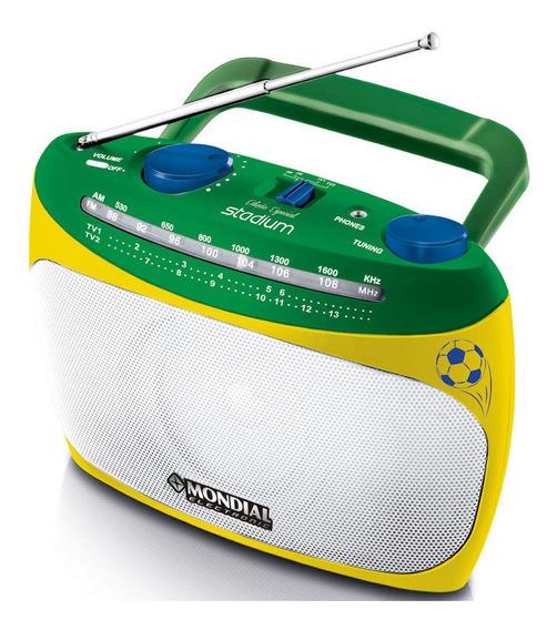 Rádio Portátil Am/fm Com Sintonizador De Canais De Tv Bivolt