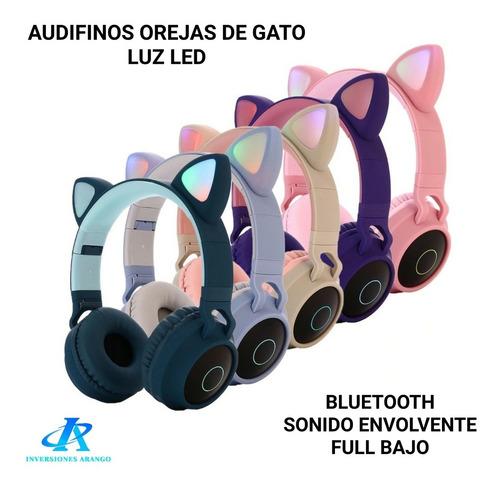 Audífonos Orejas De Gato Bluetooth Y Micro Sd Tienda Chacao
